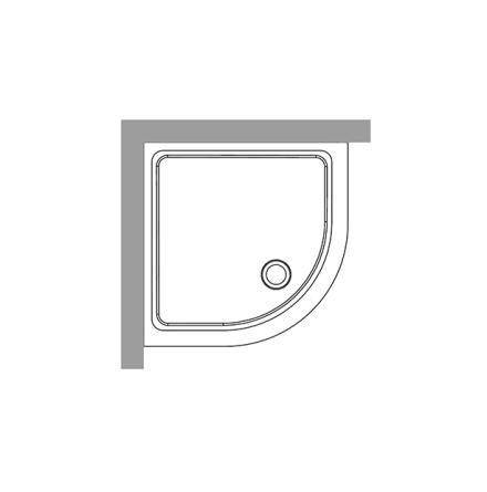 Duschkar Radie 80x80