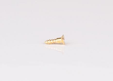 Mässingsskruv försänkt, Gauge 3 - 2,39 mm