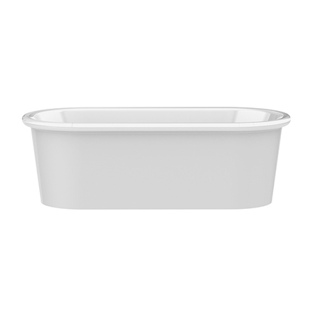 Beaton 1870x 872mm Double Ended Bath - Gloss White
