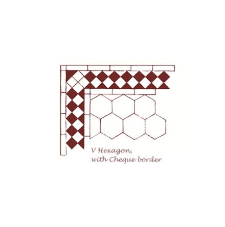 Tegelgolv - Hexagon