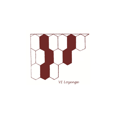 Tegelgolv - Lozenge