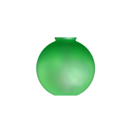 Grön munblåst Månskenskupa, 240x245 mm