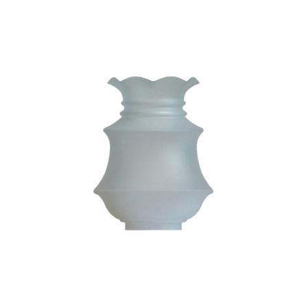 Matterad munblåst fotogenkupa 84-86 mm. HxB: 225x175 mm.